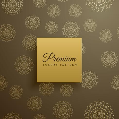 premium mandala mönster vektor bakgrund