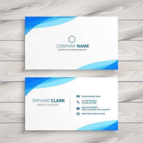 design de cartão branco azul elegante