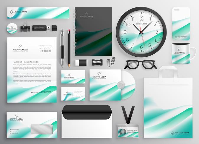 papelaria empresarial moderno definido para sua identidade de marca