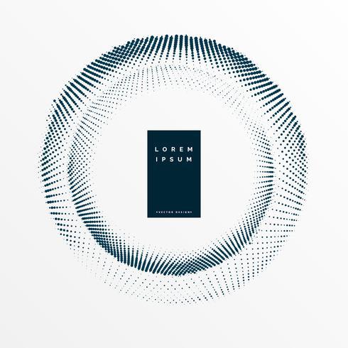 design de moldura haltone com espaço de texto