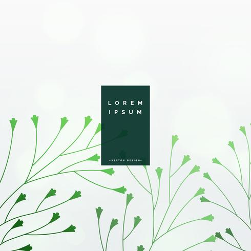 eleganta gröna blad vektor bakgrund
