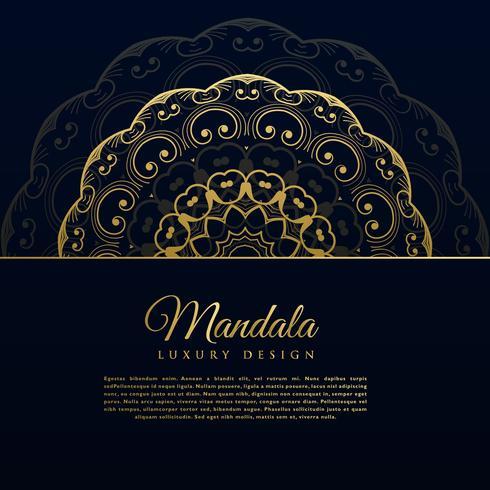 hermoso diseño de fondo de decoración de mandala