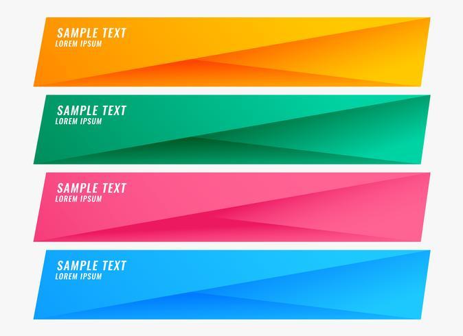 färgglada ljusa banderoller med textutrymme