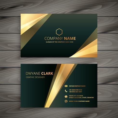 elegante plantilla de tarjeta de visita dorada premium