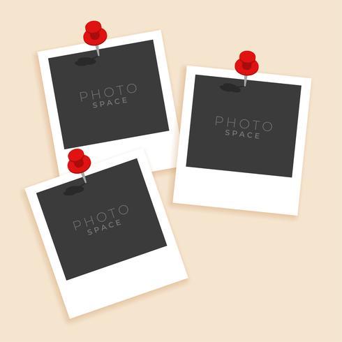 tre gammal stil fotoram