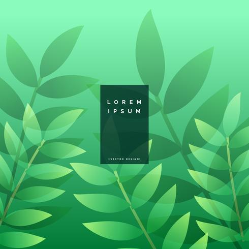 hojas verdes diseño de fondo ecológico