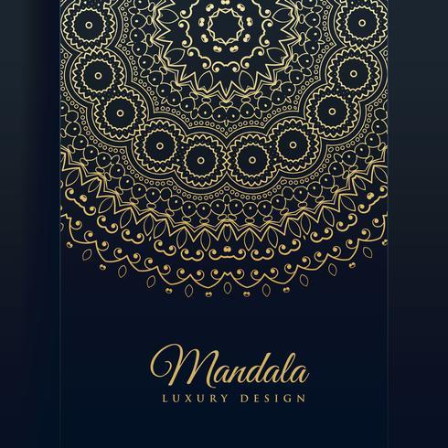 fundo de vetor de arte de mandala de luxo dourado