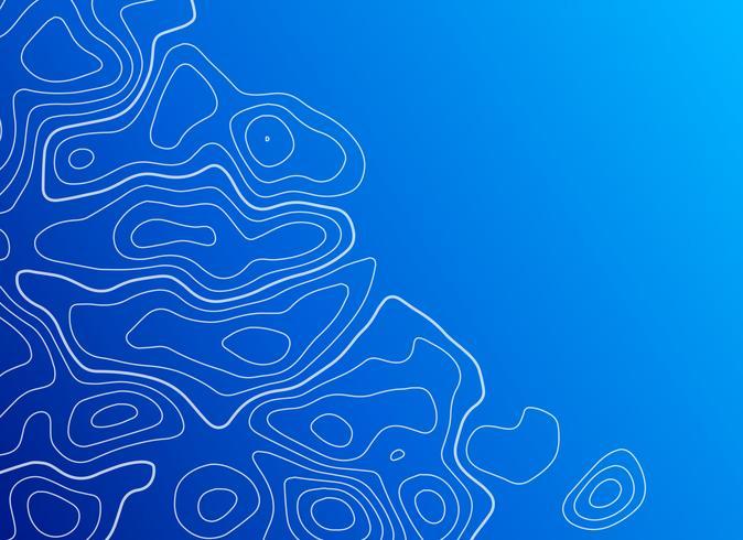 blå bakgrund med topografisk kontur