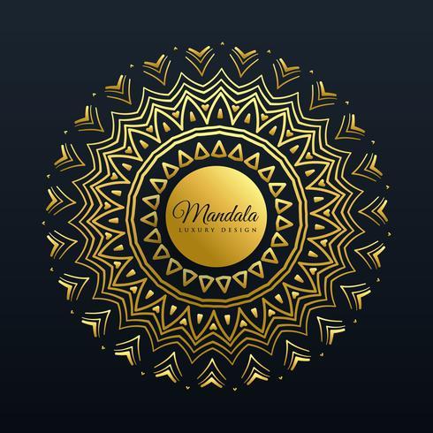 fundo de decoração linda mandala dourada