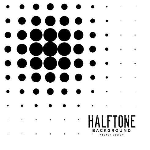 halftone zwarte cirkel abstracte achtergrond