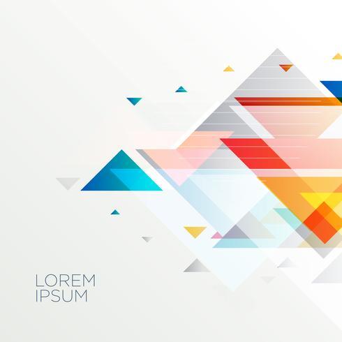 Fondo de formas abstractas geométricas triángulo