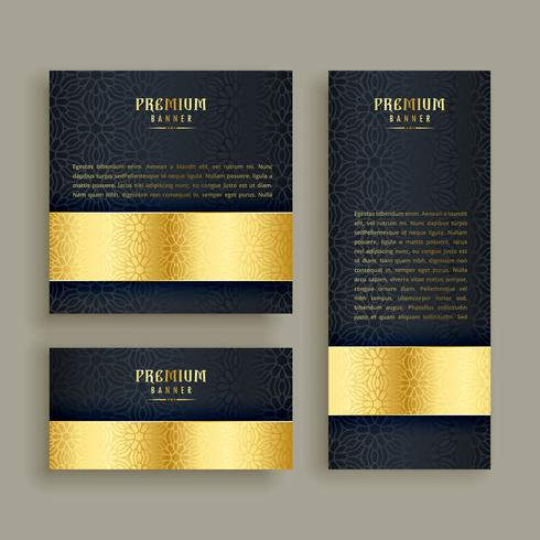 Luxus goldene Banner Bühnenbild