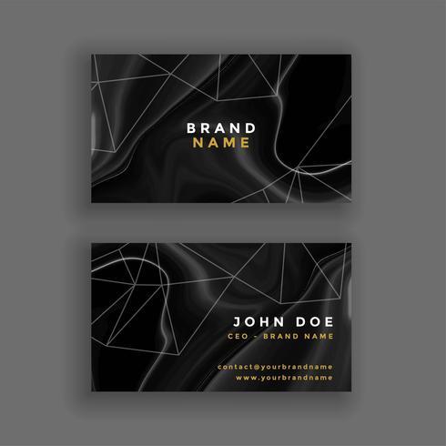 abstrakt mörk marmor textur visitkort