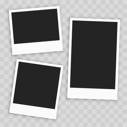 realistic empty paper photo frame - Download Free Vector Art, Stock ...