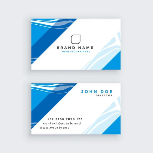 professionellt blått modernt visitkort
