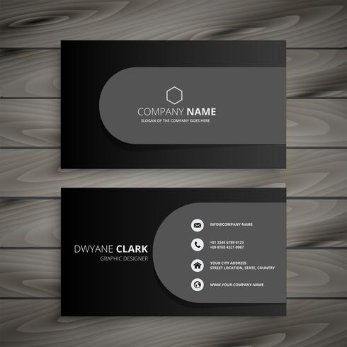 diseño de tarjeta de visita profesional oscuro