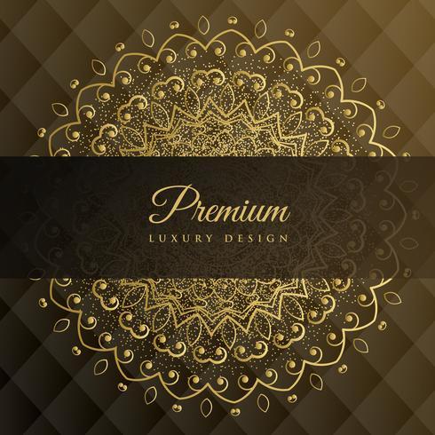 design de fundo dourado de mandala premium