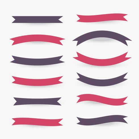 colección de cintas planas en varios estilos