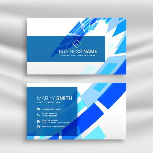 conception professionnelle de carte de visite bleue