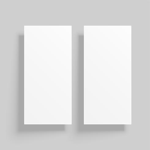vertikalt kortmockup med skuggor