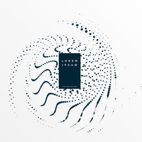 diseño de diagrama de partículas de remolino abstracto