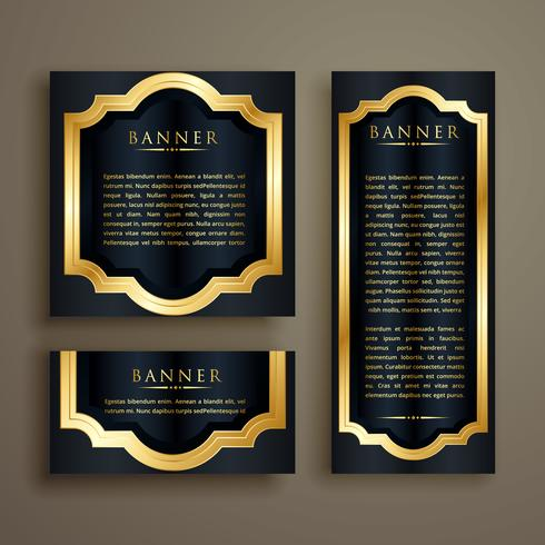 conjunto de luxurty vintage bandeira dourada