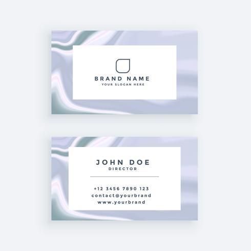 elegante diseño de tarjeta de visita de textura de mármol