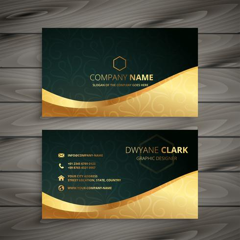design de cartão dourado de luxo