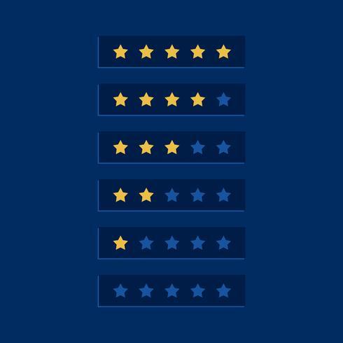 diseño de símbolo de clasificación estrella azul