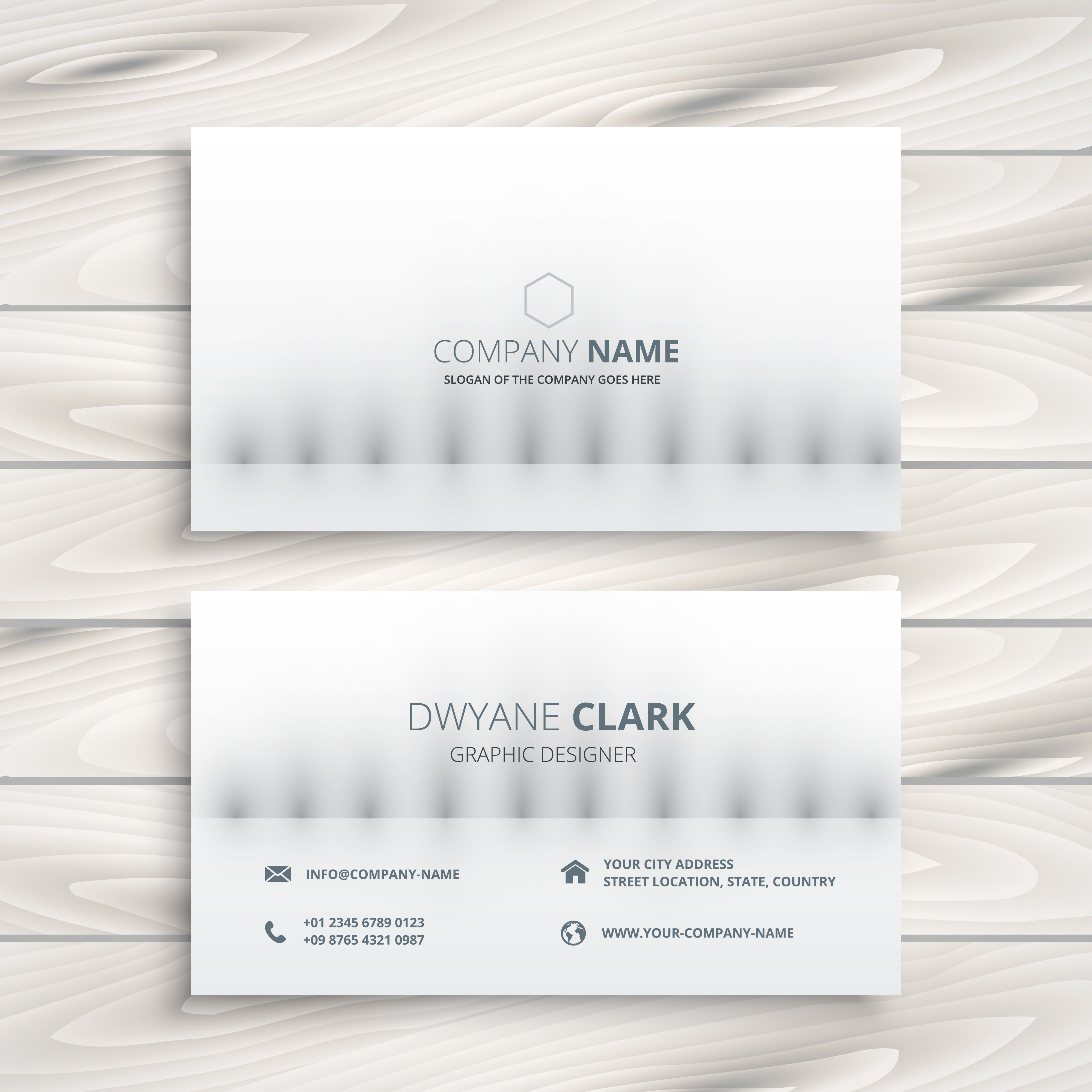 minimal white business card design