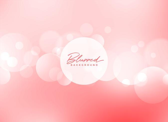 mjuk rosa bokeh vacker bakgrund