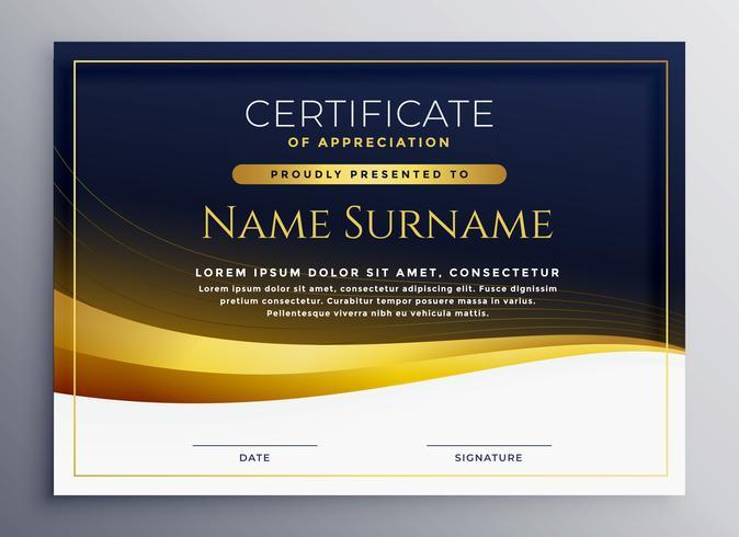 certificado profissional de modelo de agradecimento