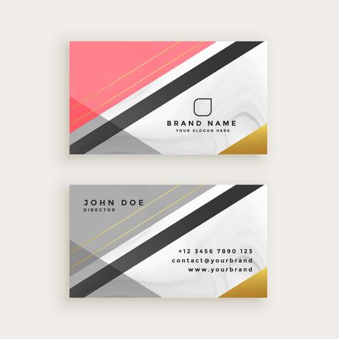elegant business card with marble texture template