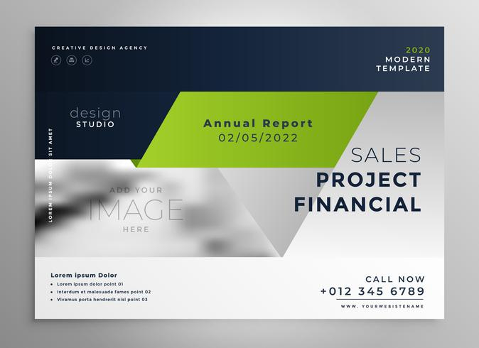 creative professional green business brochure template