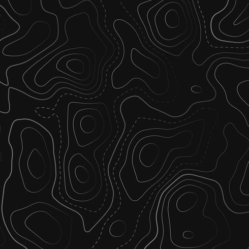 topografisk karta i svart bakgrund