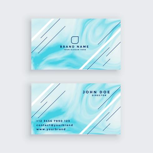 business card in blue marble texture