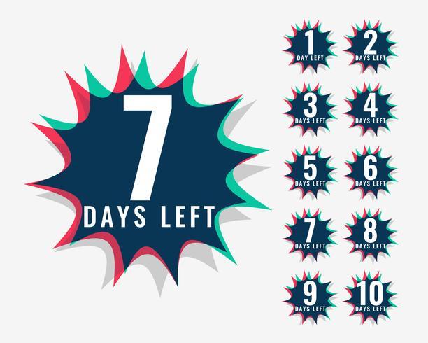 Antal dagar kvar symbolen