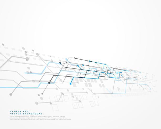 fond de technologie blanche avec diagramme de maillage