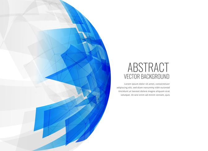 Fondo abstracto de esfera azul 3d