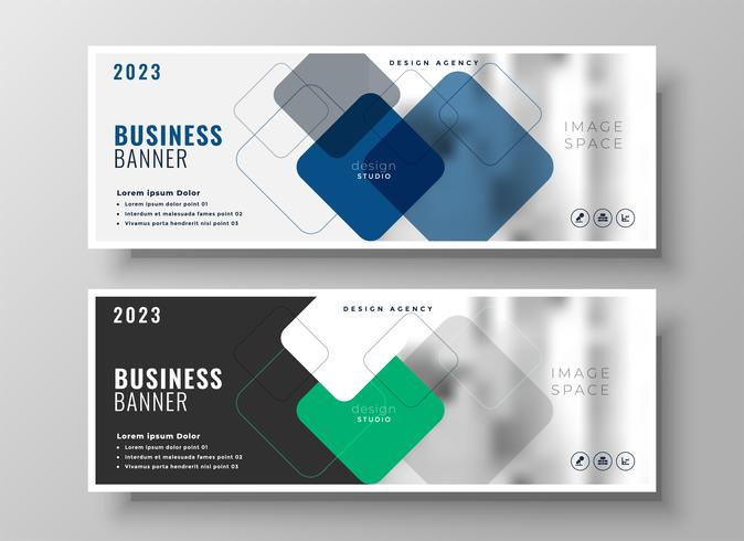 creative corporate business banners design