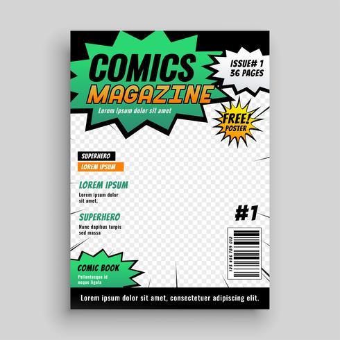 mise en page de la couverture de la bande dessinée