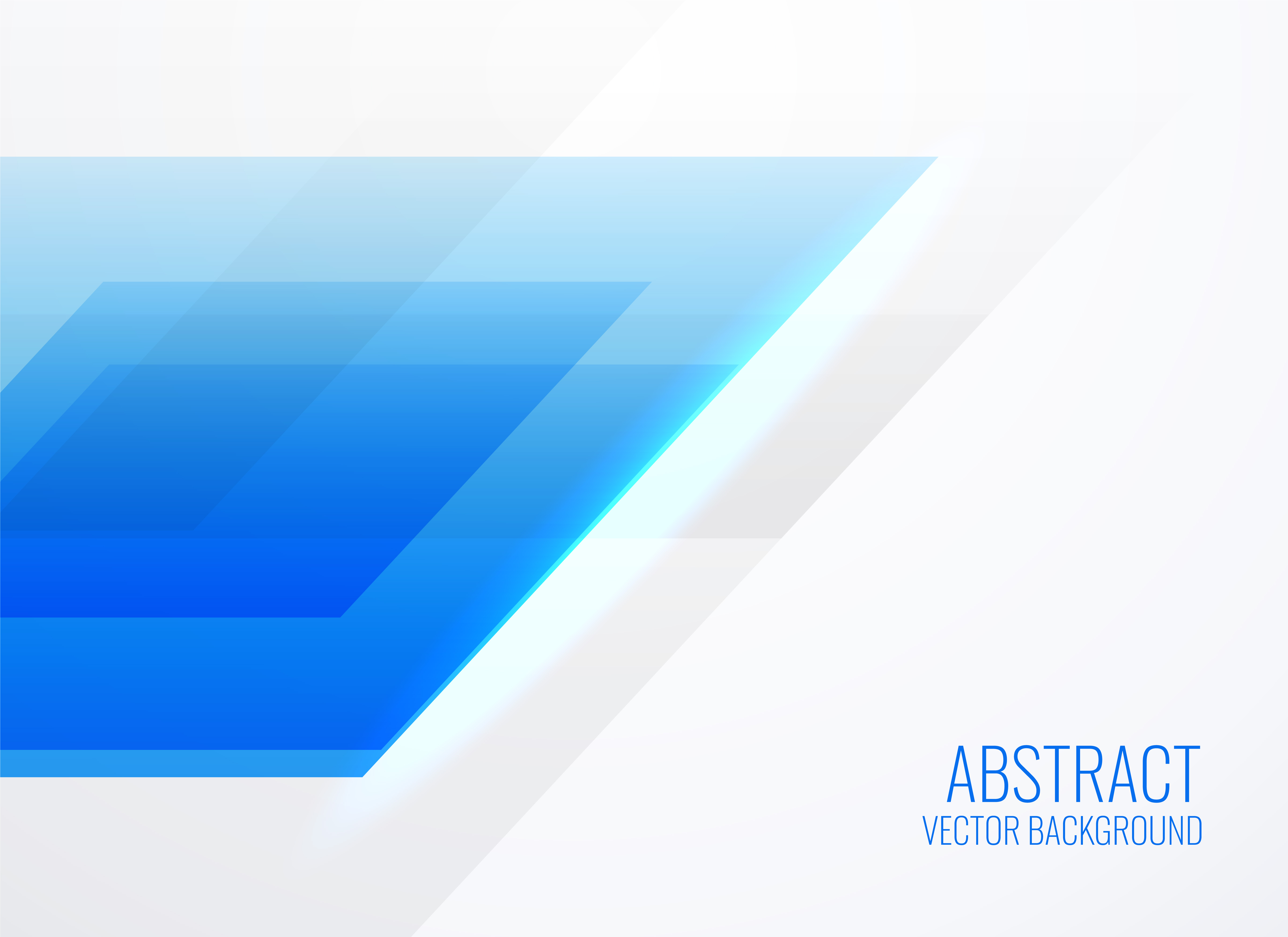 abstract geometric blue template design - download free vector art