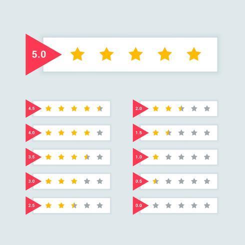 rétroaction ou notation minimale conception de symbole