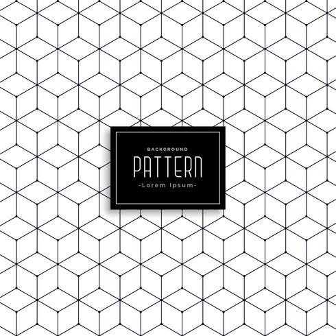 hexagonal geometric line pattern design