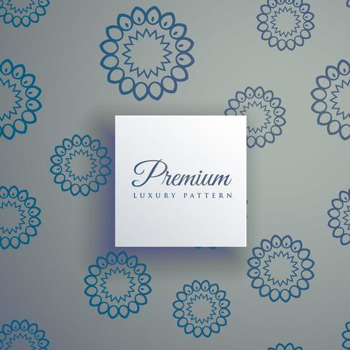 elegant dekorativt mandala sömlöst mönster