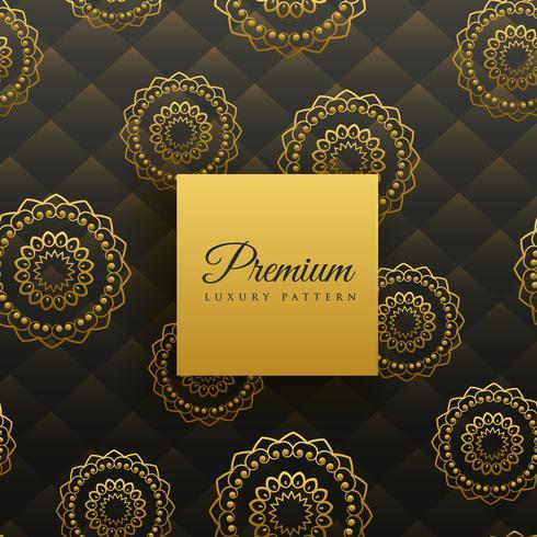 padrão sem emenda de mandala dourada premium