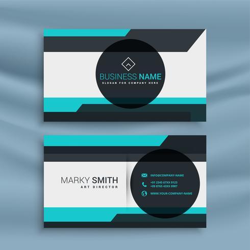 tarjeta de visita con diseño de forma geométrica
