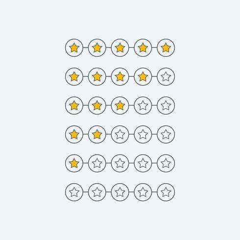 minimalstjärnan kund feedback symbol