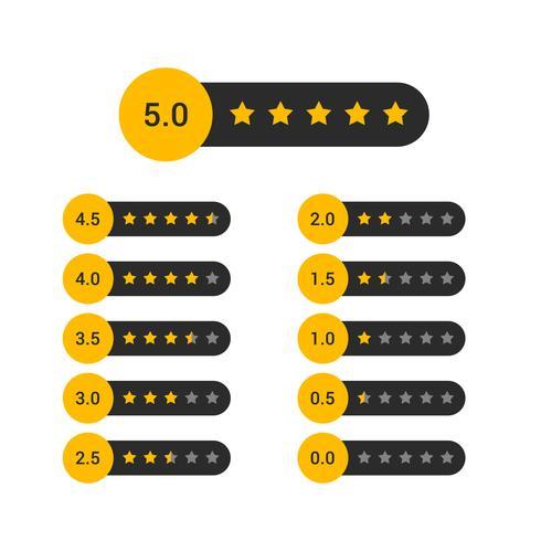 set van ster rating symbool ontwerp