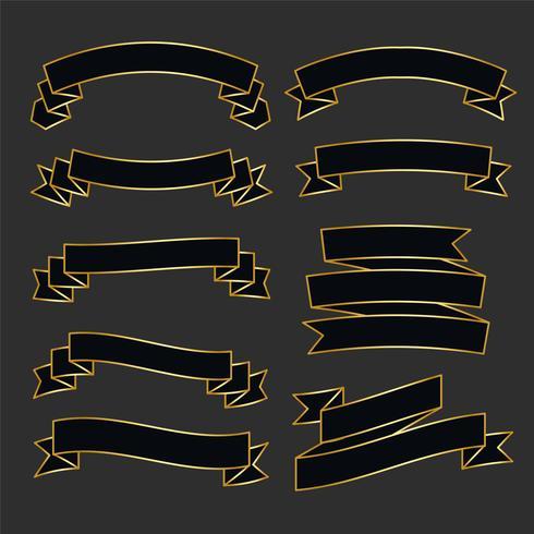 ensemble de ruban noir et or de première qualité